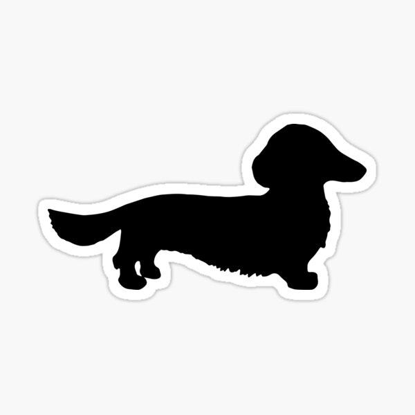 Longhair Dachshund Sticker