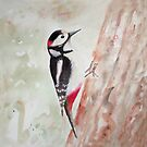 Spotted Woodpecker by penandstrings