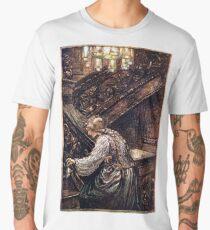 The Frog Prince - Brothers Grimm - Arthu Rackham Men's Premium T-Shirt
