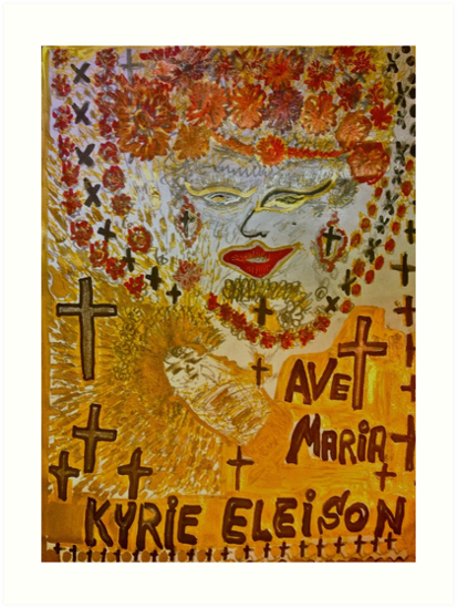 The Joyful Coptic Madonna and the Child . Hippie style. Be sure to wear flowers in your hair . God bless artists . Amen. Views: tured Wor2954, in Painters Universe  by © Andrzej Goszcz,M.D. Ph.D