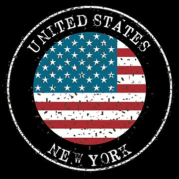 New York United States of America Flag Souvenir by peter2art