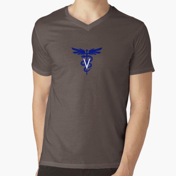 veterinary logo 1 V-Neck T-Shirt