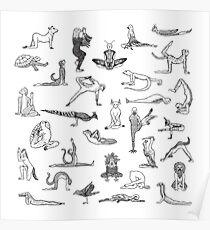 31 Yoga Tiere - von Shamanthi Poster