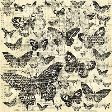 shabby black butter flies pattern,shabby chic, black ,butterflies, pattern, victorian,belle epoque,vintage,rustic,french chic, wedding by love999