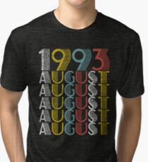 Vintage August 1993 Birthday Gifts Tri-blend T-Shirt