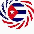 Cuban American Multinational Patriot Flag Series by Carbon-Fibre Media
