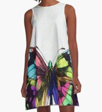 Colorful Butterfly A-Line Dress