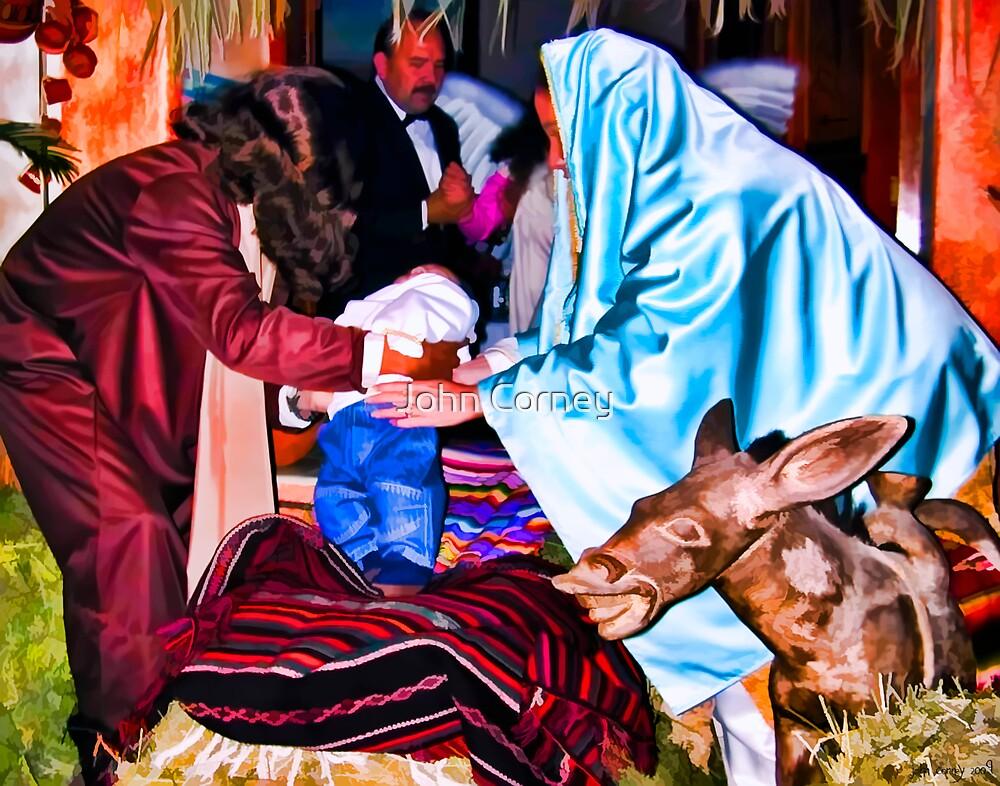 Christmas Nativity Scene by John Corney