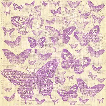 shabby lavender butter flies pattern,shabby chic, lavender ,butterflies, pattern, victorian,belle epoque,vintage,rustic,french chic, wedding by love999