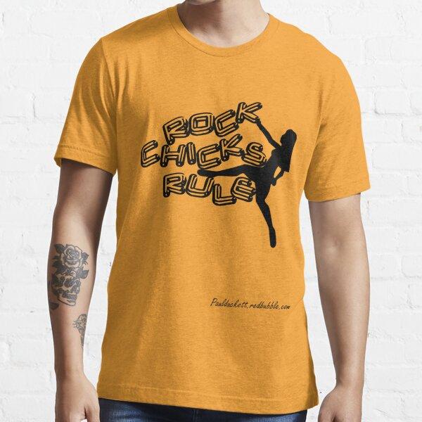 Rock Chicks Rule - Black text Essential T-Shirt