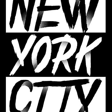 New York City USA Typography Souvenir by peter2art