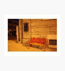 Bank Bench Art Print