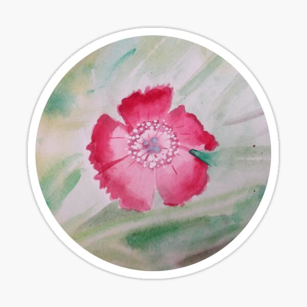 Kleine Rosa Blume Sticker
