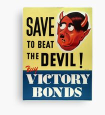 WW2 propaganda print - vintage reproduction propaganda poster - Hitler / Nazi  Canvas Print