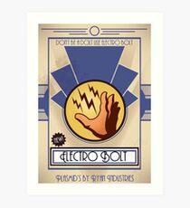 Electro Bolt - Bioshock Art Print