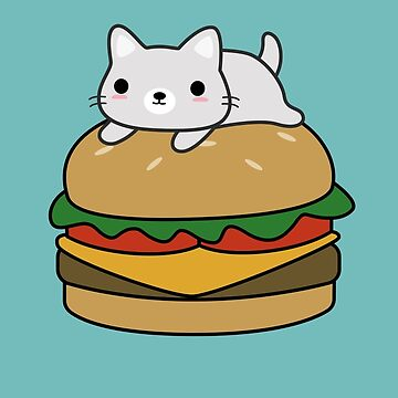 Funny Cat Hamburger  by happinessinatee