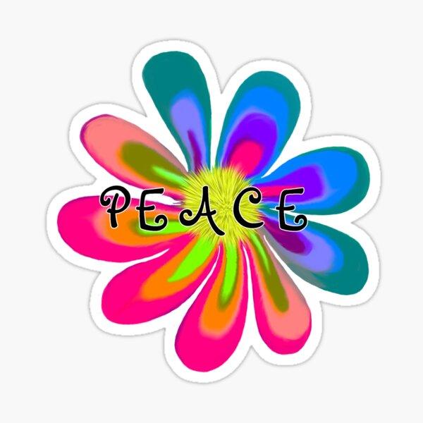 Peace Flower Sticker