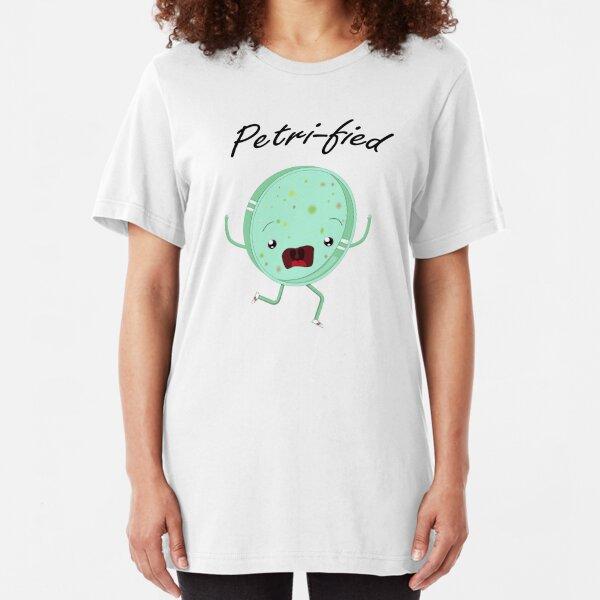 Petri-Fied - Funny Microbiology Biologist T Shirt for Men Women Kids Slim Fit T-Shirt