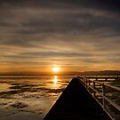 Lake Illawarra sunset by Geraldine Lefoe