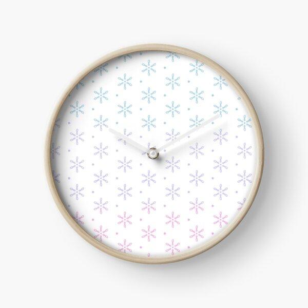 Loopy Daisy Pattern Pastel Clock