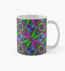 Neon Diamond Pattern Classic Mug