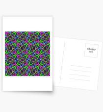 Neon Diamond Pattern Postcards