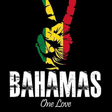 One Love Bahamas Peace Sign by MikeMcGreg