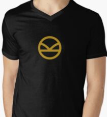 KINGSMAN · Golden Logo Men's V-Neck T-Shirt