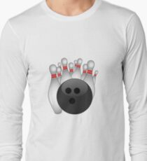 8deb9fffd Bowling Ball with Pins Long Sleeve T-Shirt