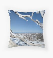 View through Snow Gums Throw Pillow