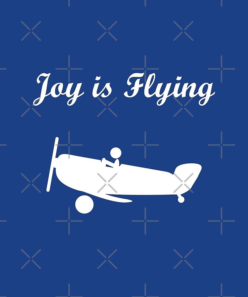 Joy is Flying Airplane Pilot Dark Monotone by TinyStarAmerica