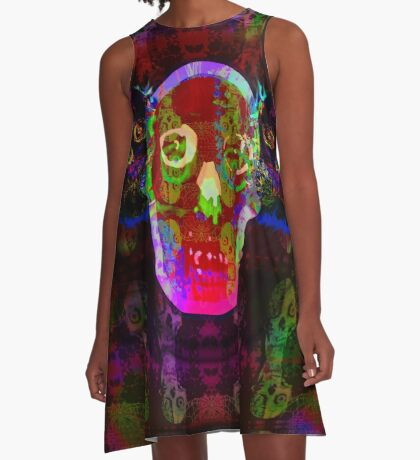 Freakazoid Skulls A-Line Dress