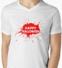 T-Shirt With Happy Halloween  Men's V-Neck T-Shirt
