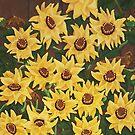 Wild Sunflowers Tangle by Karirose