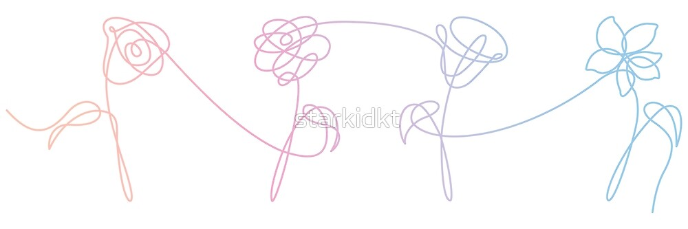 BTS Love Yourself Her Album Flowers by starkidkt