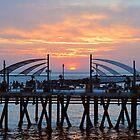 Sunset Horseshoe Pier  by Walt Conklin