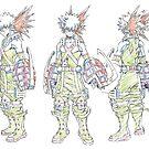 My Hero Bakugo Character Sketch by Adam Del Re