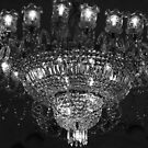 Chandelier at Sovabazzar Rajbari, during durga puja by Shubhrajit Chatterjee
