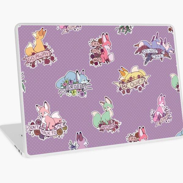 pastel foxes Laptop Skin