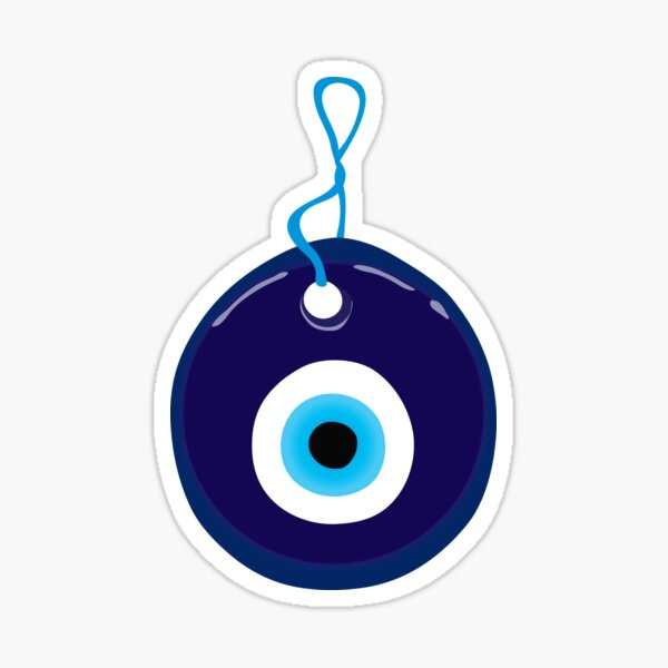 Blue Evil Eye Bead Sticker