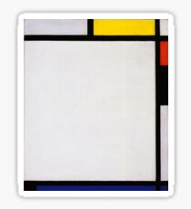 Piet Mondrian, Abstract Art, Famous European Sticker