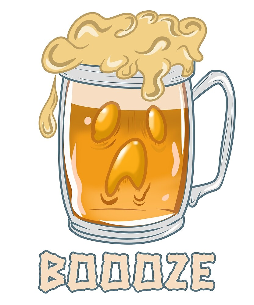 Funny Boooze Ghost Beer Halloween by petprints