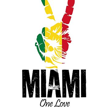 One Love Miami Peace Sign by MikeMcGreg