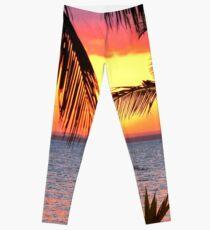 "A ""RAINBOW"" SUNSET Leggings"