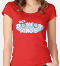 Donion Rings Women's Fitted Scoop T-Shirt