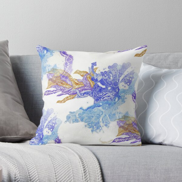 Carrickalinga Waves Throw Pillow