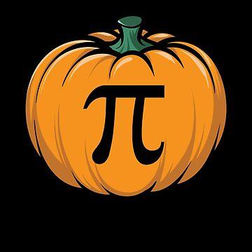 Funny Pumpkin Pi Pun Thanksgiving Halloween 3.14 Math by JapaneseInkArt