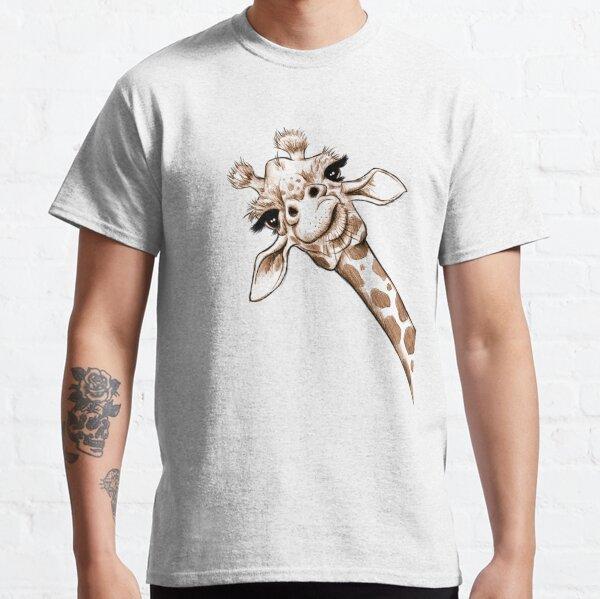 humorvoll skizzierte Giraffe nur für Sie. Classic T-Shirt
