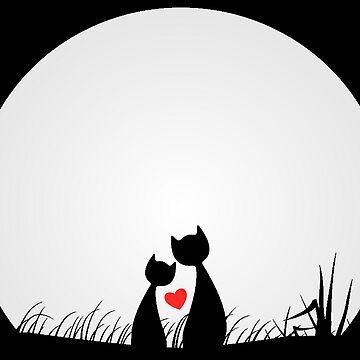 Cats in Love by CeeGunn