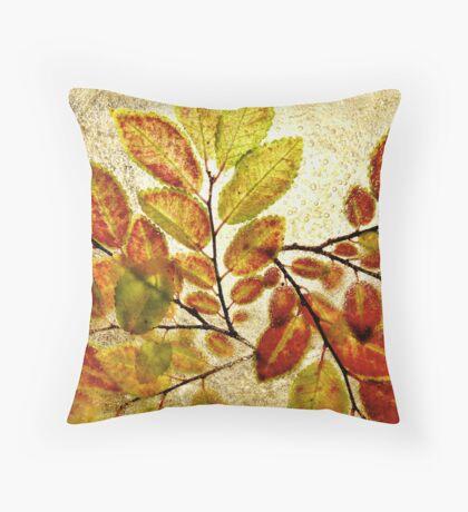 Autumn and Ice Throw Pillow